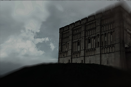 Spooky image of Norwich Castle